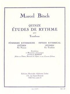 Marcel Bitsch: Fifteen Rhythmical Studies pour Trombone Livre | Trombone
