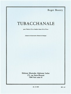 Roger Boutry: Tubacchanale (Tuba/Piano) Books | Tuba, Piano Accompaniment