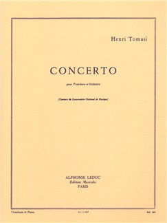 Henri Tomasi: Concerto For Trombone And Orchestra (Trombone/Piano) Books | Trombone, Piano Accompaniment