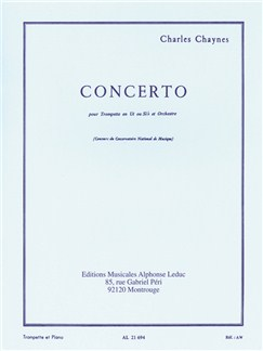 Charles Chaynes: Concerto For Trumpet And Orchestra (Trumpet/Piano) Books | Trumpet, Piano Accompaniment