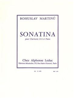 Bohuslav Martinu: Sonatina H.356 Pour Clarinette Et Piano Books | Clarinet, Piano Accompaniment
