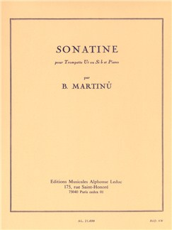 Bohuslav Martinů: Sonatine For Trumpet And Piano Books | Trumpet, Piano Accompaniment