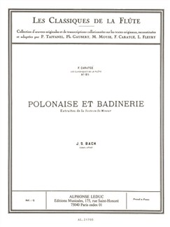 J.S. Bach: Polonaise Et Badinerie (Flute And Piano) Books | Flute