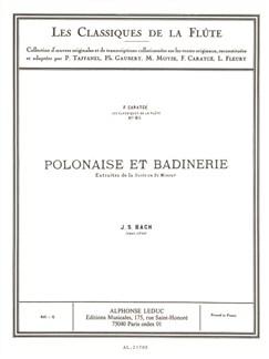 J.S. Bach: Polonaise Et Badinerie (Flute/Piano) (Caratgé) Books | Flute, Piano Accompaniment