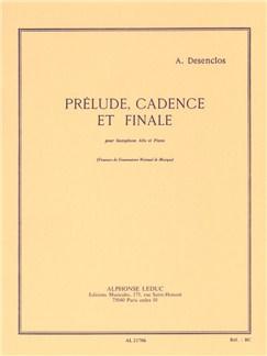 Alfred Desenclos: Prélude, Cadence Et Finale (Alto Saxophone/Piano) Books | Alto Saxophone, Piano Accompaniment