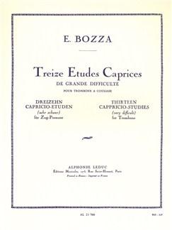 Eugène Bozza: 13 Capriccio Studies (Trombone) Books | Trombone