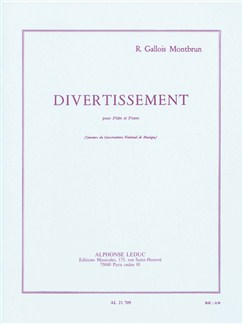Raymond Gallois Montbrun: Divertissement For Flute And Piano Books | Flute, Piano Accompaniment