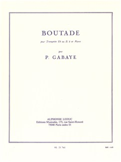 Pierre Gabaye: Boutade For Trumpet And Piano Books | Trumpet, Piano Accompaniment