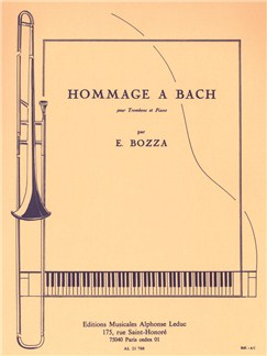 Eugène Bozza: Hommage A Bach (Trombone/Piano) Books | Trombone, Piano Accompaniment