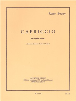 Roger Boutry: Capriccio For Trombone And Piano Books | Trombone, Piano Accompaniment