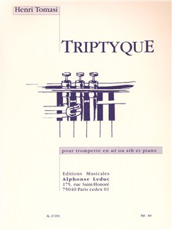 Henri Tomasi: Tryptique For Trumpet and Piano Books | Trumpet, Piano Accompaniment