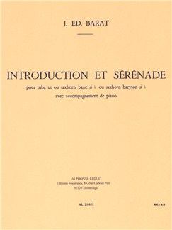 Joseph Edouard Barat: Introduction Et Sérénade (Tuba/Piano) Books | Tuba, Piano Accompaniment