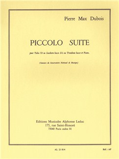 Pierre Max Dubois: Piccolo Suite (Tuba & Piano) Books | Tuba, Bass Trombone, Piano Accompaniment