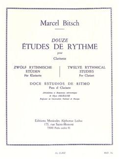 Marcel Bitsch: 12 Études De Rythme (Clarinet) Libro | Clarinete