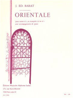 Joseph Edouard Barat: Orientale (Cornet or Trumpet/Piano) Books | Cornet, Trumpet, Piano Accompaniment