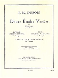 Pierre-Max Dubois: 12 Various Studies (Trumpet) Libro | Trompeta