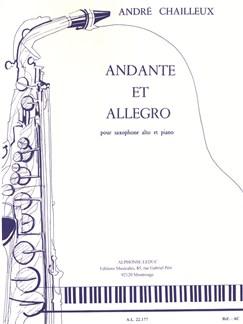 André Chailleux: Andante Et Allegro (Alto Saxophone/Piano) Books | Alto Saxophone, Piano Accompaniment