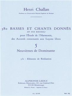 Henri Challan: 380 Figured Bass Exercises (5b) Books | Voice