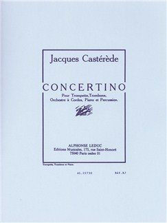 Jacques Castérède: Concertino for Trumpet, Trombone, String Orchestra, Piano and Percussion (Piano Reduction) Buch | Trompete, Posaune, Klavierbegleitung