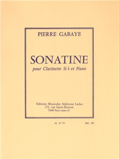 Pierre Gabaye: Sonatine For Clarinet And Piano Books | Clarinet, Piano Accompaniment