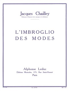 Jacques Chailley: L'Imbroglio Des Modes Books | All Instruments