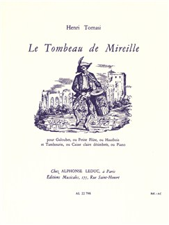 Henri Tomasi: Le Tombeau De Mireille Books | Piccolo, Pipe, Oboe, Drums, Percussion, Piano Accompaniment