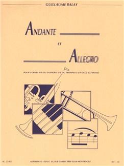 Guillaume Balay: Andante Et Allegro (Trumpet or Cornet/Piano) Books | Trumpet, Cornet, Piano Accompaniment