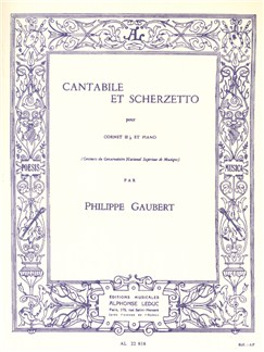 Philippe Gaubert: Cantabile Et Scherzetto (Cornet/Piano) Books | Trumpet, Cornet, Piano Accompaniment