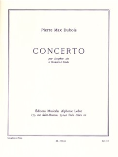 Dubois Pm: Concerto (saxo orch.cordes) saxophone Mib et Piano Livre | Saxophone Alto, Accompagnement Piano