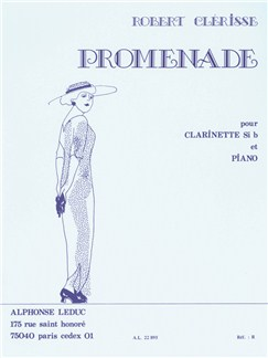 Robert Clérisse: Promenade (Clarinet/Piano) Books | Clarinet, Piano Accompaniment