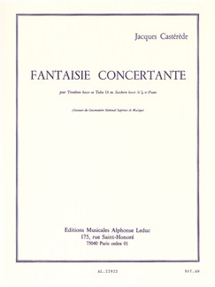 Jacques Castérède: Fantaisie Concertante (Tuba or Bass Trombone/Piano) Books | Bass Trombone, Tuba, Piano Accompaniment