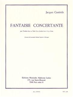 Fantaisie Concertante pour trombone basse ou Tuba Ut ou SaxCor Basse Sib et Piano Livre | Trombone, Tuba, Piano