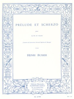 Henri Büsser: Prélude Et Scherzo For Flute And Piano Op.35 Books | Flute, Piano Accompaniment