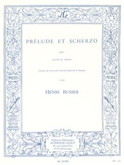 Henri Büsser: Prélude Et Scherzo (Flute/Piano) Books | Flute