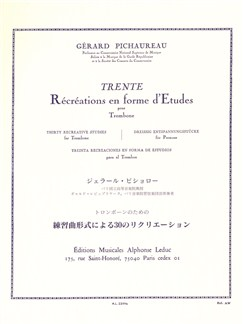 Gérard Pichaureau: Thirty Recreative Studies (Trombone) Livre | Trombone