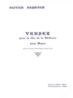 Olivier Messiaen: Verset Pour La Fête De La Dédicace Livre | Orgue