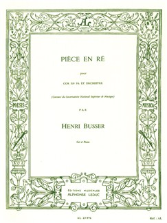 Henri Büsser: Piece In D (Horn/Piano) Books | French Horn, Piano Accompaniment