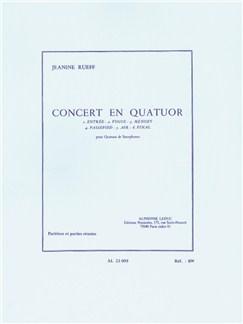 Jeanine Rueff: Concert For Quartet (Four Saxophones) Books | Alto Saxophone, Soprano Saxophone, Tenor Saxophone, Baritone Saxophone