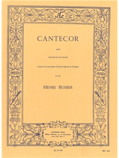 Henri Büsser: Cantecor For Horn And Piano Books | French Horn, Piano Accompaniment