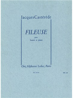 Jacques Castérède: Fileuse (Bassoon/Piano) Books | Bassoon, Piano Accompaniment