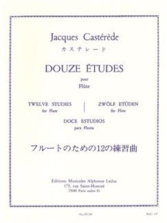 Jacques Castérède - Douze Études pour flûte Livre | Flûte Traversière