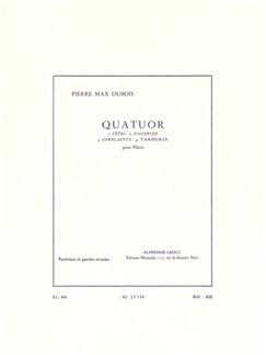 Pierre-Max Dubois - Quatuor Pour Flûtes Buch | Querflöte, Partitur