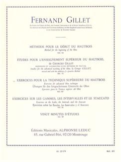 Fernand Gillet: Études Pour La Technique Supérieur Du Hautbois Buch | Oboe