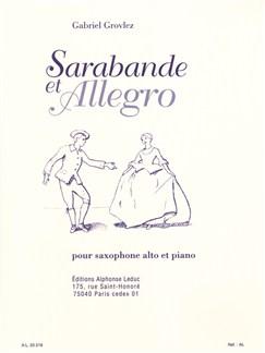 Gabriel Grovlez: Sarabande Et Allegro (Alto Saxophone/Piano) Books | Alto Saxophone, Piano Accompaniment