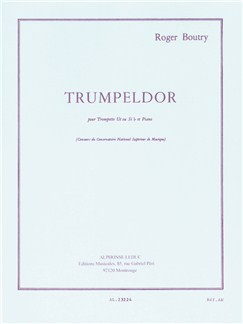 Roger Boutry: Trumpeldor (Trumpet/Piano) Books | Trumpet, Piano Accompaniment