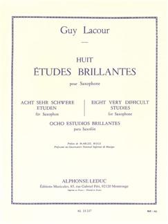 Guy Lacour: Huit Études Brillantes (Saxophone) Libro | Saxofón