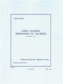Henri Tomasi: 5 Danses Profanes Et Sacrées (Wind Quintet) (Score/Parts) Books | Wind Quintet