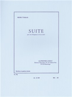 Henri Tomasi: Suite For Three Trumpets (Score/Parts) Libro | Trompeta(Trío)