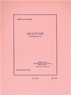 Pierre-Max Dubois: Quartuor (Four Clarinets) (Score/Parts) Books | Clarinet (Quartet)