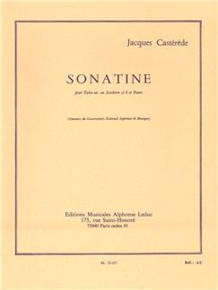 Jacques Castérède: Sonatine For Tuba And Piano Books | Tuba, Piano Accompaniment
